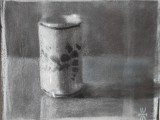 Chinese pot - 8x10 - chalk